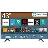 Hisense H43BE7000 108 cm (43 Zoll) Fernseher (4K Ultra HD, HDR, Triple Tuner, Smart-TV, Standard) [Modelljahr 2019]
