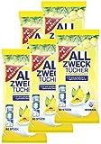 Feuchte Reinigungstücher in Spenderverpackung 400 Stück - 5er Pack (Inhalt 5 x 80 Stück) - Mit frischem Zitronenduft