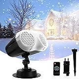 Weihnachten Projektor Lichter, Qxmcov LED Schneeflocke Projektor lichter mit Fernbedienung, Wasserdichte Weihnachten Licht Projektor Schneeflocke Projektorlampe für Weihnachten, Party, Hochzeit