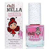 Miss Nella PINK A BOO- abziehbarer Nagellack speziell für Kinder, rosa, Peel-Off-Formel, ungiftig, wasserbasiert und geruchsneutral