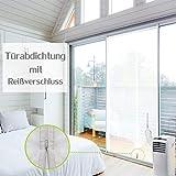 ANK-SNL Türabdeckung Türabdichtung für mobile Klimageräte | Klimaanlage Auslass | Hot Air Stop mit Reißverschluss zum Anbringen an Balkontür | Alternative zur Fensterabdichtung (90x210cm)
