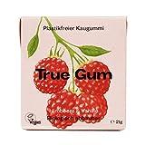 True Gum Himbeere & Vanille   Plastikfreier Kaugummi   Biologisch Abbaubar   Vegan   21 g