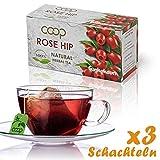 Hagebutten Tee, Kräutertee -Starken Immunstimulator. Reiche Vitaminquelle, 3 Packungen zu 20 Filterbeuteln (60 x 2,0 Gramm), 100% Natural