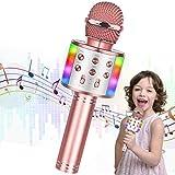 WEARXI Karaoke Mikrofon Kinder - Mädchen Junge Geschenke Spielzeug 7-14 Jahre, Kinder Bluetooth Mikrofon, Kindermikrofon für Nikolaus Geschenke, Ostergeschenke, Geburtstagsgeschenk