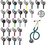 3M Littmann Classic III Stethoskop MIT GRAVUR (verschiedene Farben) (Smoke Limonengrün (Blauer Schlauchanschluss))