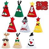 15 Filzhüte Weihnachten Design Partyhüte - Große Auswahl - Ideal für Weihnachtsfeiern & Anlässe, verschiedene Farben & Designs