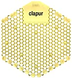 clapur Urinalsieb (2 Stk.) mit Citrus Duft, Austausch-Indikator und doppelseitigem Spritzschutz, für jedes Pissoir und Urinal, eckig, gelb