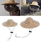 LA VIE Haustier Hut für Katzen und kleine Hunde Kostüm Unternehmen Verstellbare Kopfbedeckung Party Kostüm Zubehör S