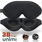 2020 Verbesserte Schlafmaske und Augenmaske für Frauen und Männer, weiche Augenmaske aus 3D konturiertem Lycra Material, 100% Lichtblockierende Schlafbrille für Reisen, Nickerchen-Schwarz