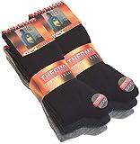 VCA 6 Paar Herren THERMO Socken Vollfrottee, UNI schwarz, anthrazit und grau, Gr. 43-46