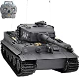 HOOBEN NEU Montierter RTR 1:10 Tiger Late Production Wittmann Superschwerer Panzer Metallfahrgestell, Metallgetriebe Mit IR Battle Smoke Sound