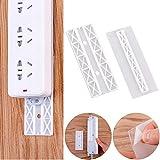 LUTER 10er Pack Selbstklebend Power Strip Fixator ABS-Kunststoff Wandmontage Steckerplatine Kabelhalterung Wandhalterung (weiß)