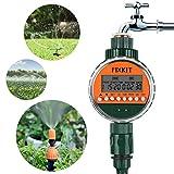 FIXKIT Bewässerungsuhr, Digitaler Wassertimer IP68 Wasserdichter LCD Bildschirm, Bewässerungsprogramme bis zu 30 Tagen, ideal zur Blumenbewässerung, Rasenbewässerung usw
