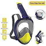WOTEK Schnorchelmaske Vollmaske Tauchmaske Vollgesichtsmaske Tauchermaske für Kinder und Erwachsene-Snorkel Mask Full face mit Rundumsicht, Anti-Fog Anti-Leck, Kompatibel mit der Kamera