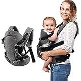 Xatan Baby-Trage, alle möglichen Tragepositionen für Neugeborene und Kleinkinder, ergonomischer Tragerucksack mit weichem, atmungsaktivem Mesh-Gewebe und komplett verstellbaren Schnallen