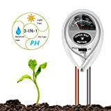 BIFY Bodentester,Boden Feuchtigkeit Meter,3 in 1 Bodentester für Feuchtigkeit/Sonnenlicht/pH-Tester für Pflanzenerde, Garten, Bauernhof, Rasen,kein Batterien erforderlich(Nur für Boden)