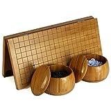 LYQZ Go Spiel Set, Bambus Go Schachbrett + Go Pieces Portable Suit
