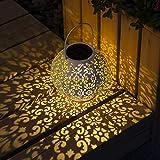 GIGALUMI Solar Laterne weiß Solarlampe für außen wasserdicht Gartenlaterne ideal für Garten Terrasse Hinterhof und Balkon