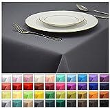 Rollmayer Tischdecke Tischtuch Tischläufer Tischwäsche Gastronomie Kollektion Vivid (Grafit 33, 140x200cm) Uni einfarbig pflegeleicht waschbar 40 Farben
