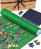 Jaques of London Aufrollbare Puzzlematte - bis zu 1500 Teile mit faltbarem Stoff - Ultra-sichere Puzzle-Teppichbasis mit aufblasbarem Schlauch und einfachen Befestigungen Seit 1795