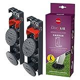 Hailo EasyClix Garden Size L, Wechsel-Fuß-Set für Hailo Haushaltsleitern, für stabilen Stand auf weichen Untergründen, einfacher Wechsel, 9948-001