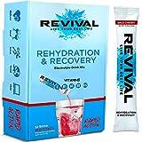 Revival Isotonisches Getränkepulver Elektrolyt Drink - Gesundheits- und Sportgetränk – Kirsche 12 Sticks