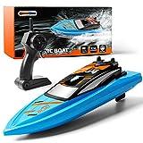 GizmoVine Ferngesteuertes Boot RC Boot 2,4GHz mit 2 Motoren Schnelle Geschwindigkeit Jungen und Mädchen (Boot)