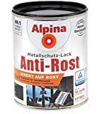 Alpina 3in1 Metallschutz-Lack Anti-Rost 1L anthrazit matt Ral 7016