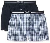 BOSS Herren Nos Boxer Ew 2P Schlafanzughose, Blau (Dark Blue 405), Large (2er Pack)
