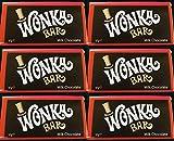 Wonka Bar - 6 x 50g Bars - Willy Wonka Bar - Milk Chocolate - Charlie and The Chocolate Factory…