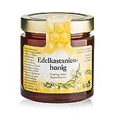 Sanct Bernhard Edelkastanienhonig kräftige, malzige, leicht zartbittere Honig-Spezialität aus der Region Piemont - 500 g Glas