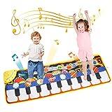 TENOL Klaviermatte für Kinder Spielzeug ab 1 2 3 4 Jahre Mädchen Geburtstags Geschenke für Jungen Musikmatte Kinder ab 5 6 7 Jahr Musikspielzeug Kinder Keyboard Musikinstrumente Tanzmatte für Kinder