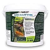 aquality Teichreiniger & Teichschlammentferner (Wirkt innerhalb von Minuten - Teichschlamm, Laub, Futterreste und Tannennadeln), Inhalt:5 kg