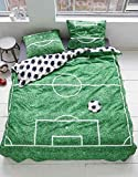 Covers & Co Bettwäsche Soccer Baumwolle Renforce Grün, 135x200 + 1x 80x80 cm