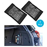 Wady Transportset für Kofferraum, Netz, Kofferraumwanne, für Rücksitz, elastisch, für Gepäck, Aufbewahrung, Tasche, Organizer, 2er-Pack