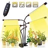 CXhome LED Pflanzenlampe 40w 80 LEDs Pflanzenlicht Vollspektrum Pflanzenleuchte mit Timer 3H/9H/12H Wachsen licht Wachstumslampe Pflanzenlichter für Zimmerpflanzen Gartenarbeit