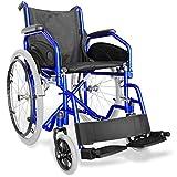 AIESI® Rollstuhl faltbar leichter selbstfahrender für ältere und behinderte menschen AGILA EVOLUTION # Ausziehbare armlehnen und fußstützen # Sicherheitsgurt # 24 monate garantie