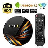 TICTID Smart TV Box【4GB+64GB】 Android TV Box TX6 Plus mit S905X3 Quad-Core Cortex-A55 unterstützt 8K/HD/ WiFi 2.4G/5G/USB 3.0/USB 2.0 Android 9.0 TV Box