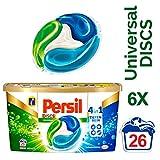 Persil 4in1 DISCS Universalwaschmittel, kombinieren Waschleistung mit Faserpflege, 156 (6 x 26) Waschladungen