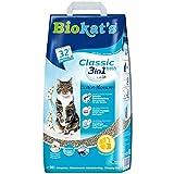Biokat's Classic fresh 3in1 mit Cotton Blossom-Duft - Klumpende Katzenstreu mit 3 unterschiedlichen Korngrößen - 1 Sack (1 x 10 L)
