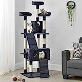Sam´s Pet Katzen-Kratzbaum Amy grau | Katzenbaum inkl. Höhlen, Liegeflächen, Treppen & Sisal Stämme | 170 cm hoch | Katzenkratzbaum