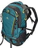 BETZ Rucksack Wanderrucksack Damen Herren Reise und Camping Freizeitrucksack Vier Taschen Volumen 33 Liter Capacity I Farbe Petrol