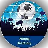 Fondant Tortenaufleger Tortenbild Geburtstag Fussball AMA23