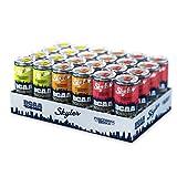 Skyler 4.000 mg BCAA Drink, 3er Mix Probierpaket, Original Rezeptur, EINWEG, 24 x 330 ml, Hochleistungsgetränk mit 105 mg Koffein, Pre-Workout Booster, Ohne Zucker