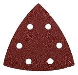 kwb Quick-Stick Schleif-Dreiecke – für Delta-Schleifer K 60, K 120, K 180, für Holz und Metall, 93 mm, Edelkorund, gelocht mit Klett (20 Stk. - Sparpack)