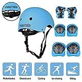 ValueTalks Schonerset Kinder Protektoren schützer inliner Schutzausrüstung Kinder Knieschoner Set mit Helm für Skateboard Fahrrad rollschuh