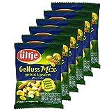 ültje - 6er Pack GeNuss Mix geröstet und gesalzen in 150 g Packung - Nussmix: Erdnüsse, Mandeln, Cashews und Pistazien ohne Schale in einem Mix vereint