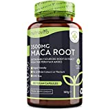 Maca Kapseln hochdosiert 3500 mg - 180 vegane Kapseln mit pulver aus der Maca Wurzel bio - Hochwirksamer Maca-Wurzelextrakt - 6 Monatsbedarf - Hergestellt von Nutravita