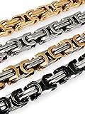 Fly Style 9 mm Königskette oder Armband aus Edelstahl in 4 Farben | 19-100 cm, Farbwahl:Silber, Längen:19 cm