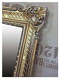 Lnxp WANDSPIEGEL BAROCKSPIEGEL Spiegel IN Gold Silber DUALCOLOR 90x70 cm ANTIK BAROCK Rokoko Shabby CHIC Renaissance JUGENDSTIL Retro Design MIT ORNAMENTVERZIEHRUNGEN LUXURIÖS PRUNKVOLL